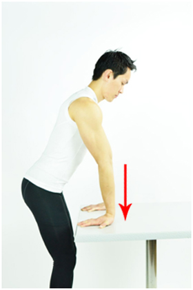 Forearm stretch with table