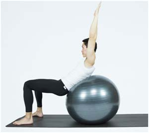 Sit ups over ball (Level 3)