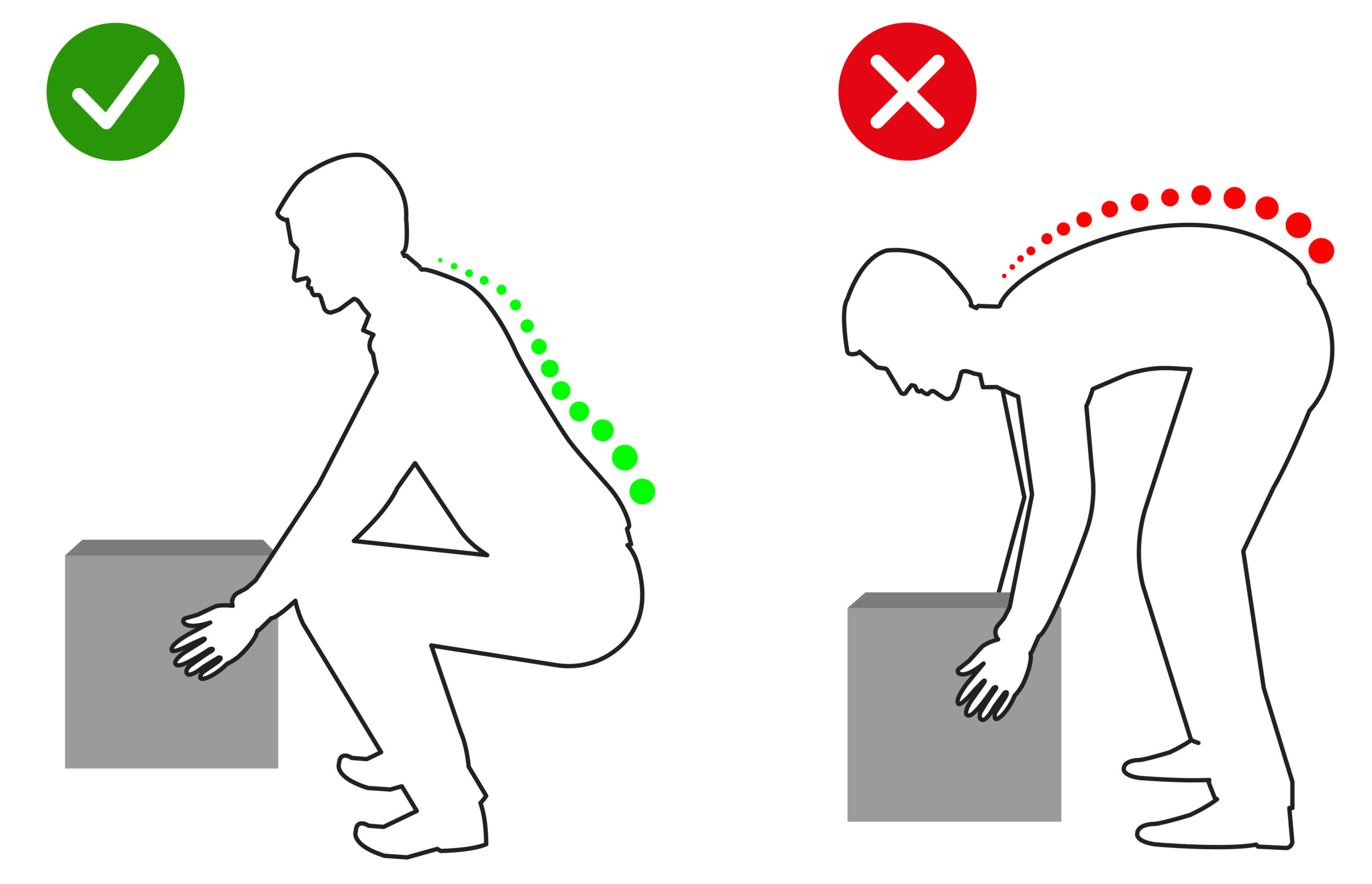Maintaining a correct lifting posture is vital in order to prevent injury - Musculoskeletal Physiotherapy Australia - image by APS